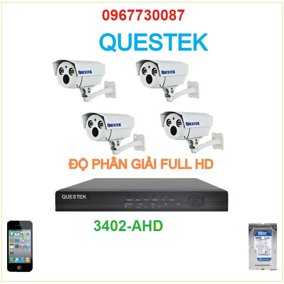 Bộ 4 Camera Questek 3402AHD