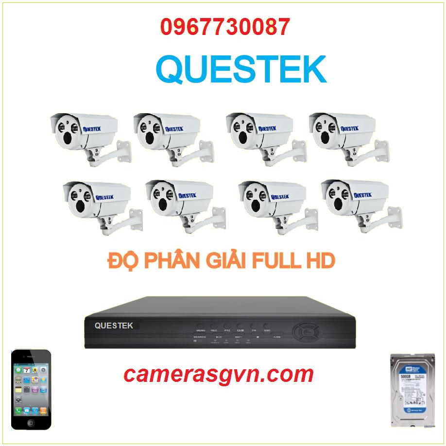 Trọn bộ 8 Camera Questek 3701AHD