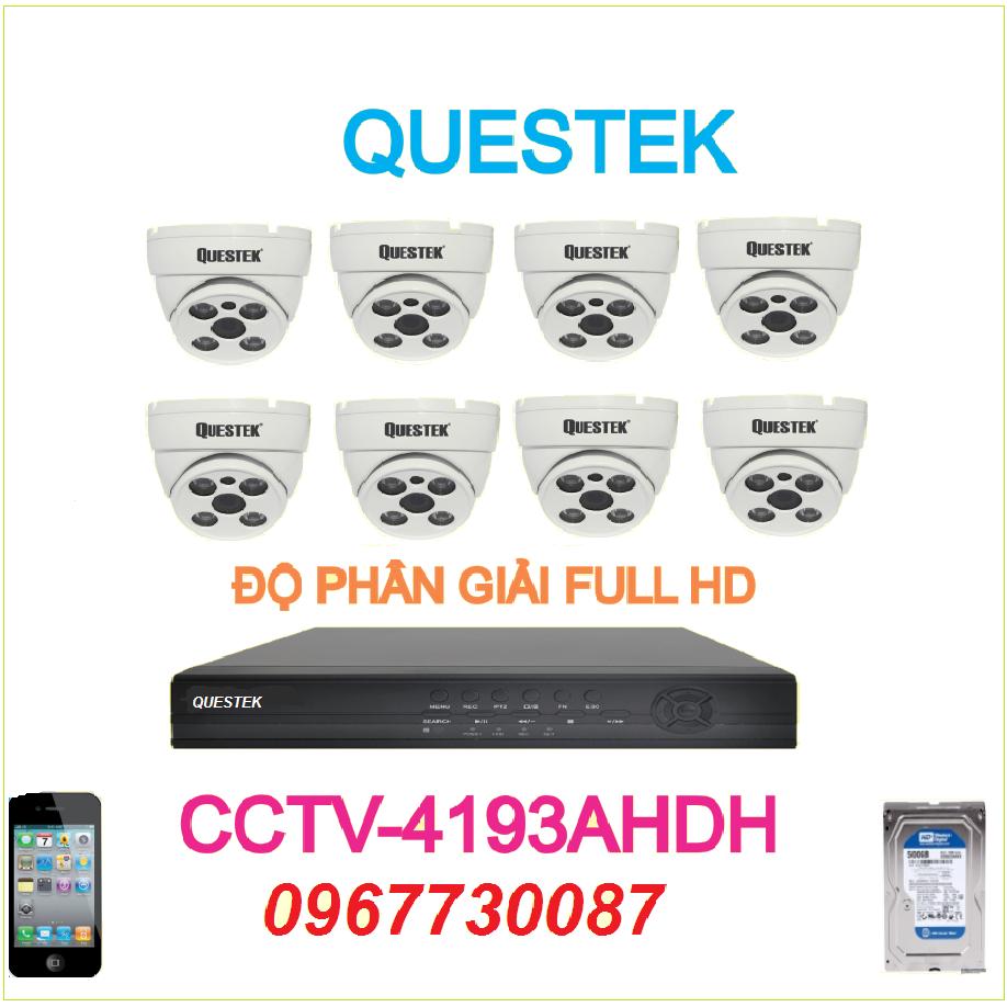 Trọn bộ 8 Camera Questek 4193AHDH