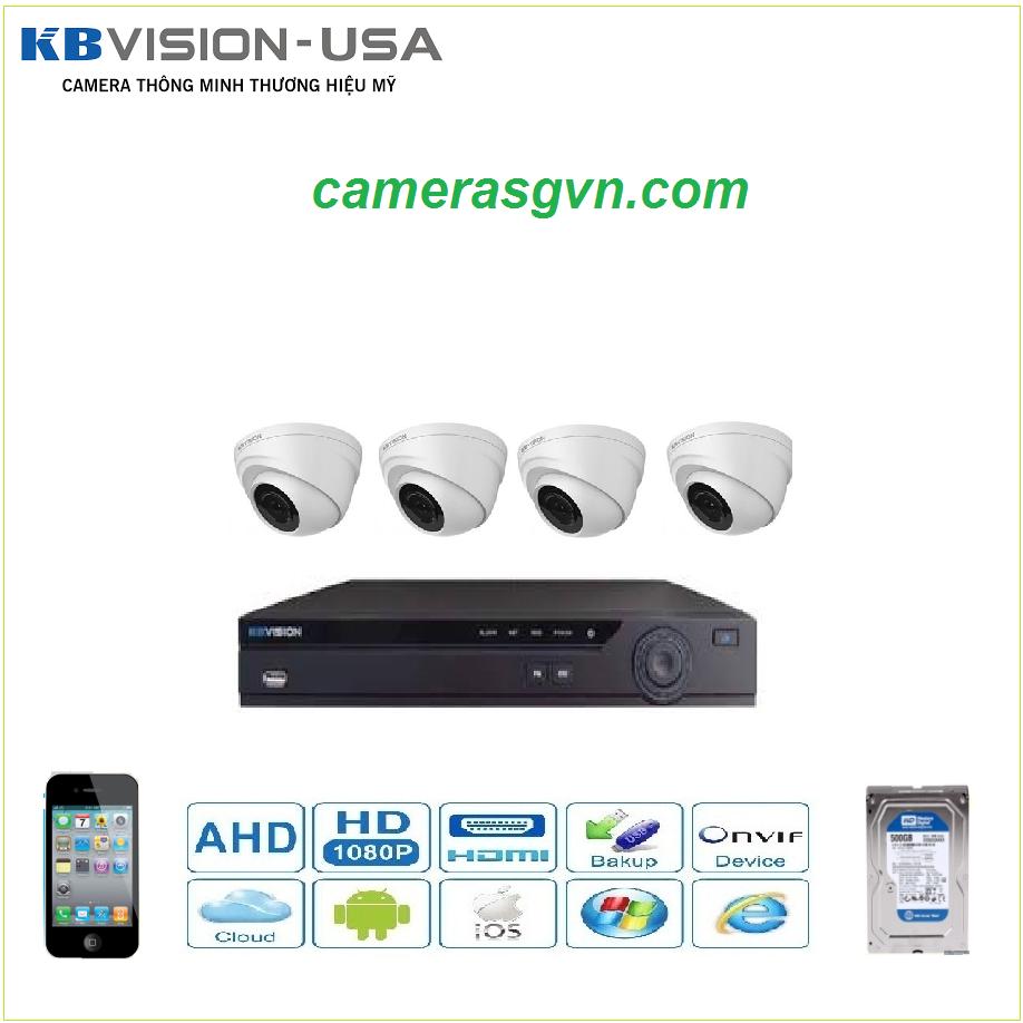 Trọn bộ 4 Camera KBVISON 1002C