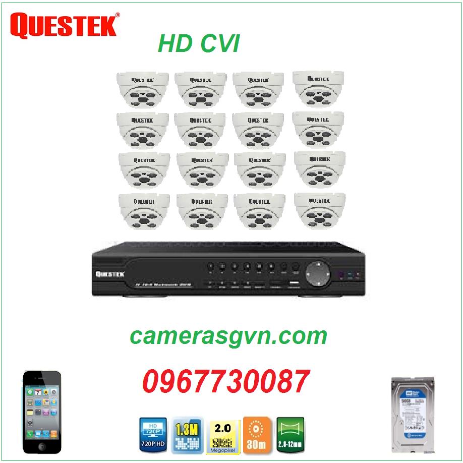 Trọn bộ 16 Camera QUESTEK QTX-4190CVI