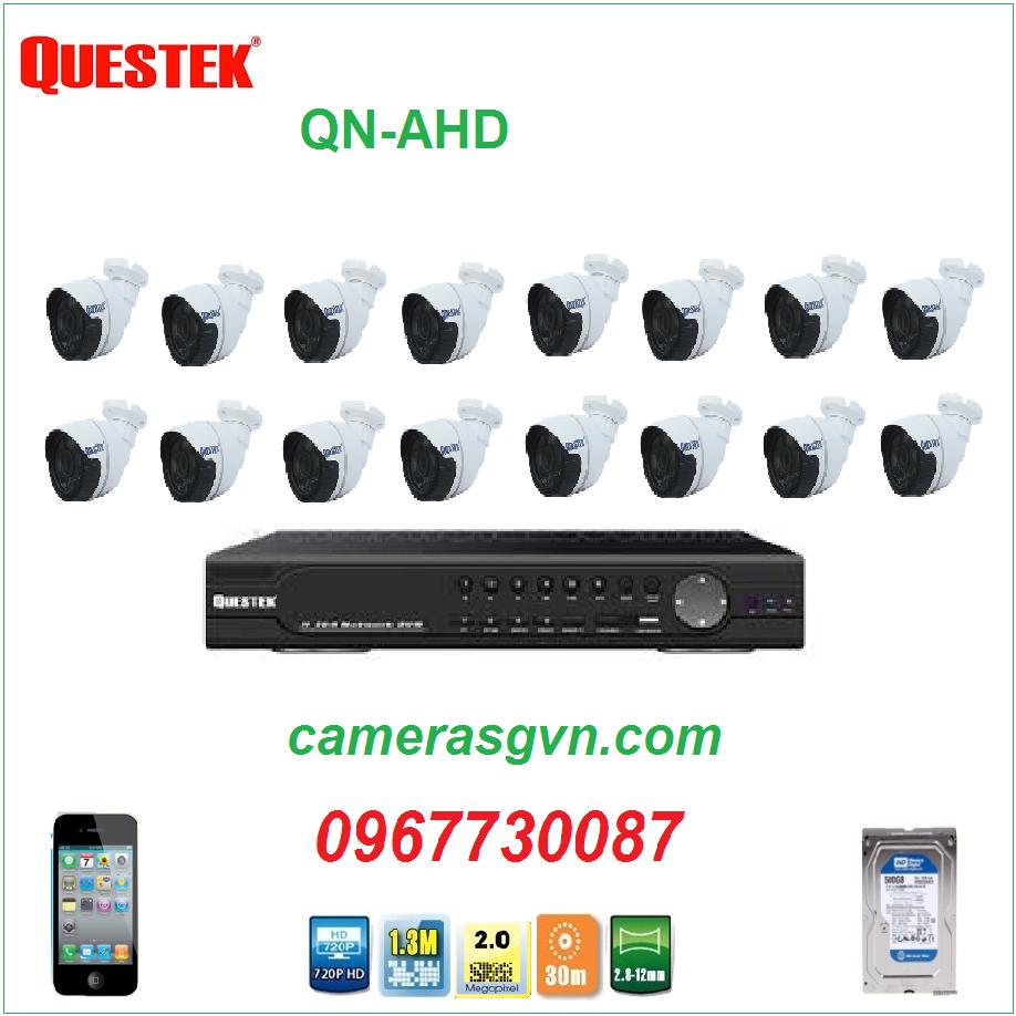 Trọn bộ 16 Camera Questek QTX-2122AHD
