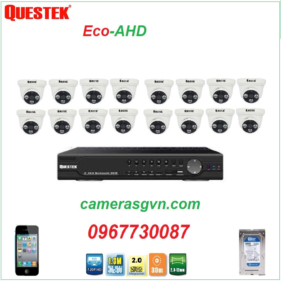Trọn bộ 16 Camera QUESTEK QTX-4162AHD
