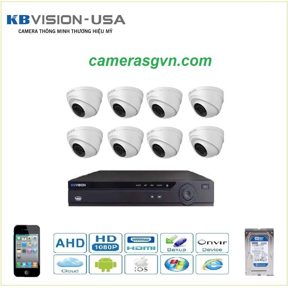 Trọn bộ 8 Camera KBVISON 1004C