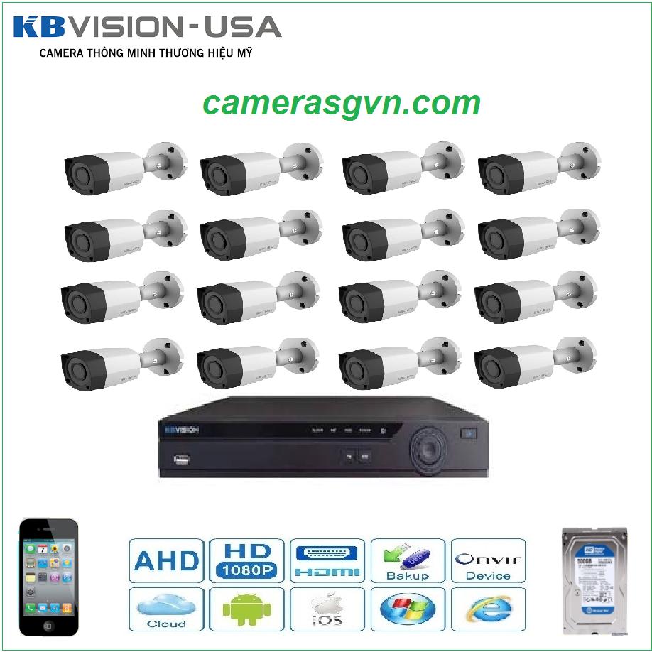 Trọn bộ 16 Camera KBVISON 2001C