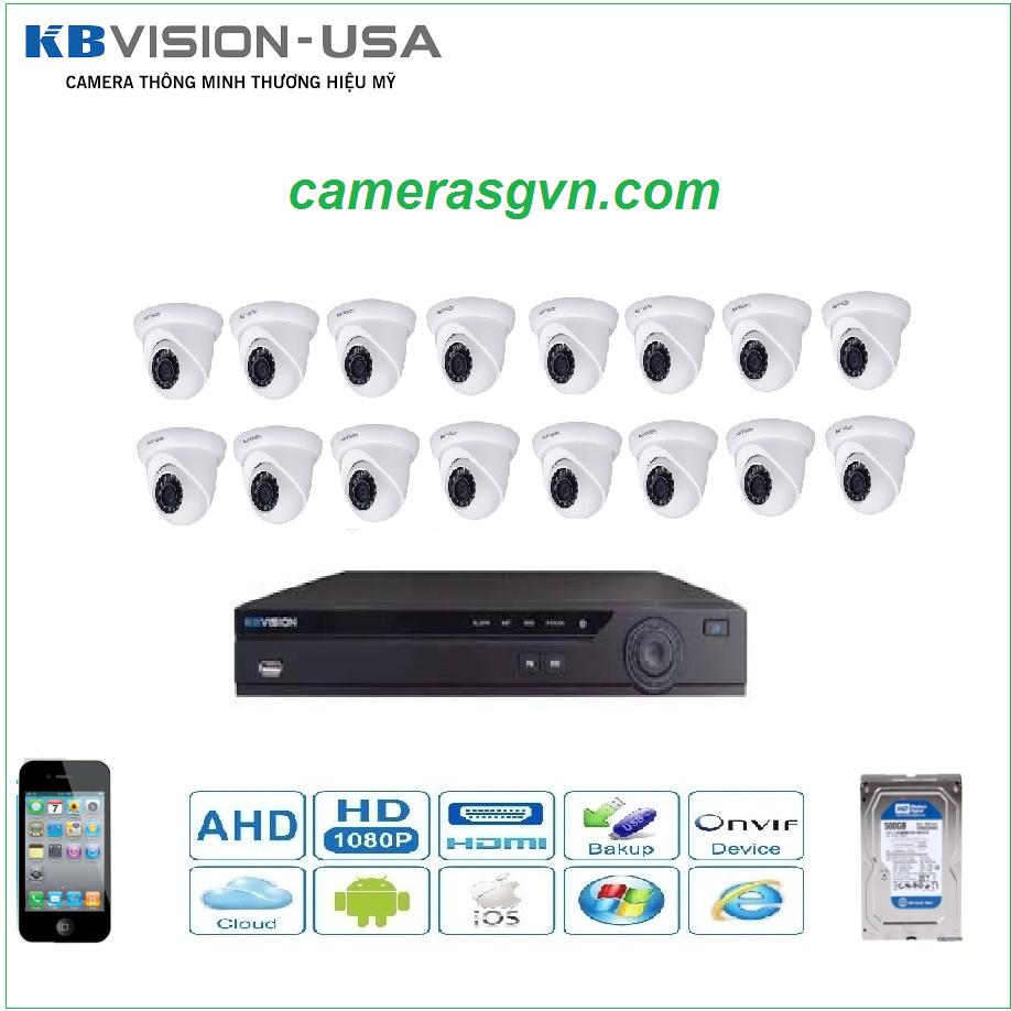 Trọn bộ 16 Camera KBVISON KB3002N