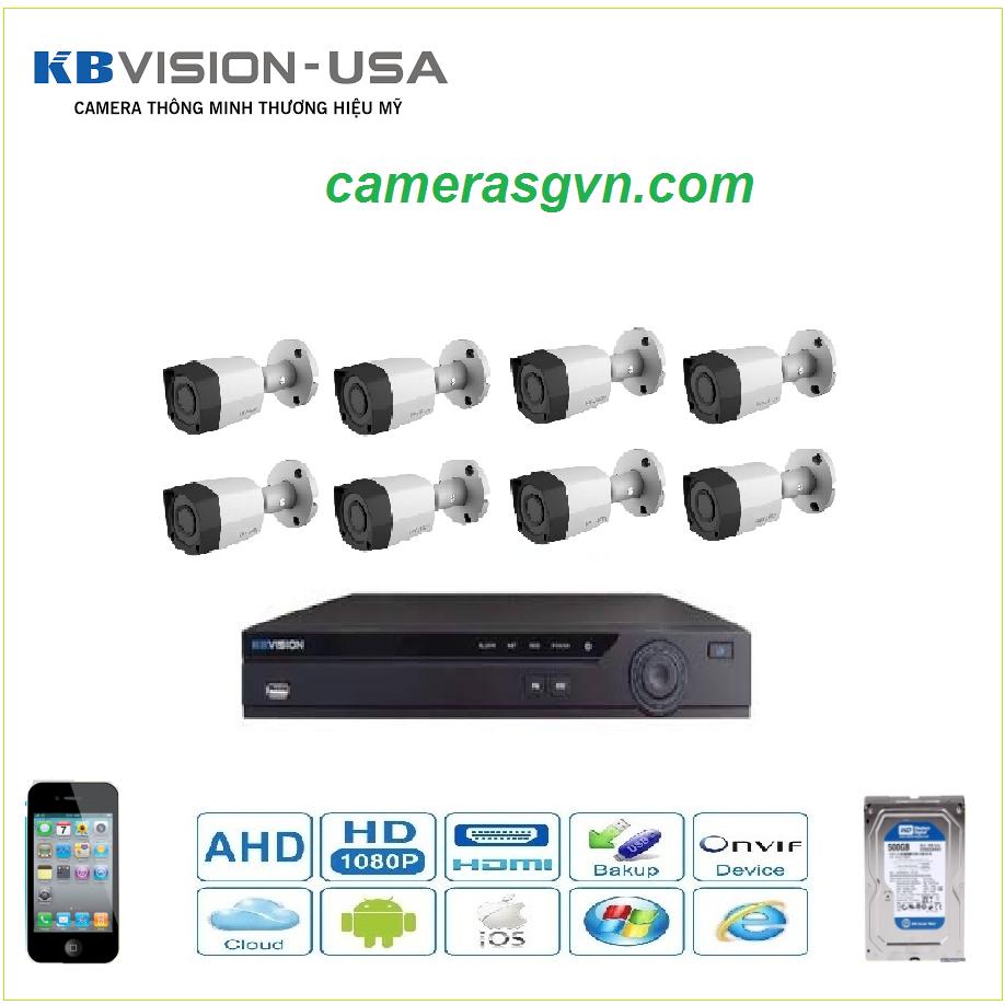 Trọn bộ 8 Camera KBVISON 1305C