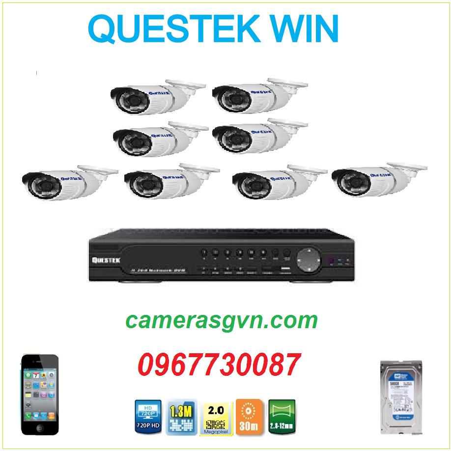 Trọn bộ 8 Camera Questek 2122AHD
