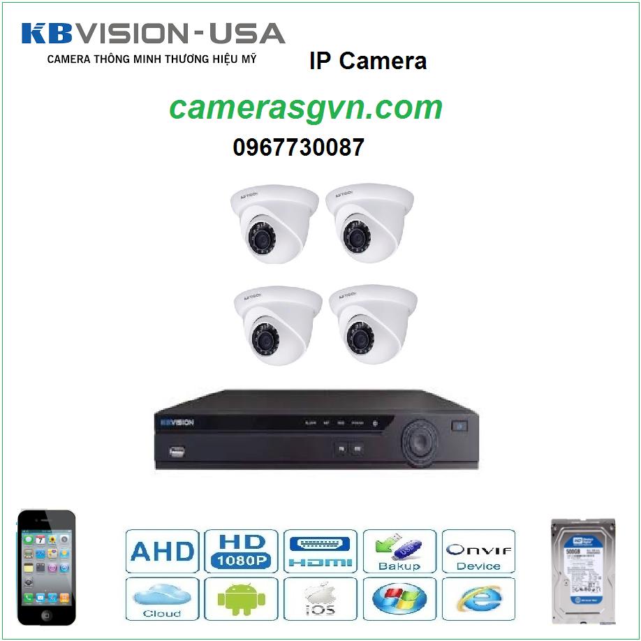Trọn bộ 4 Camera KBVISON KB-2002N