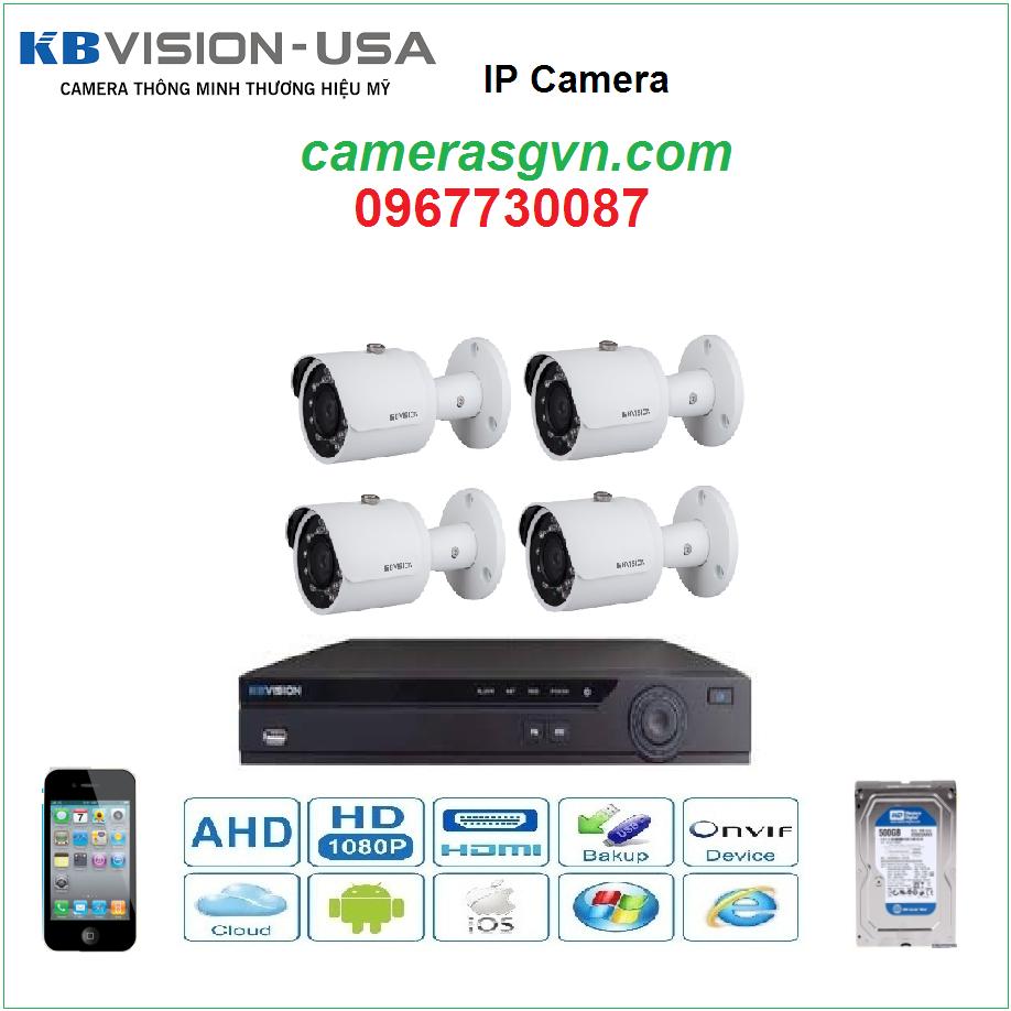 Trọn bộ 4 Camera KBVISON KB-2001N