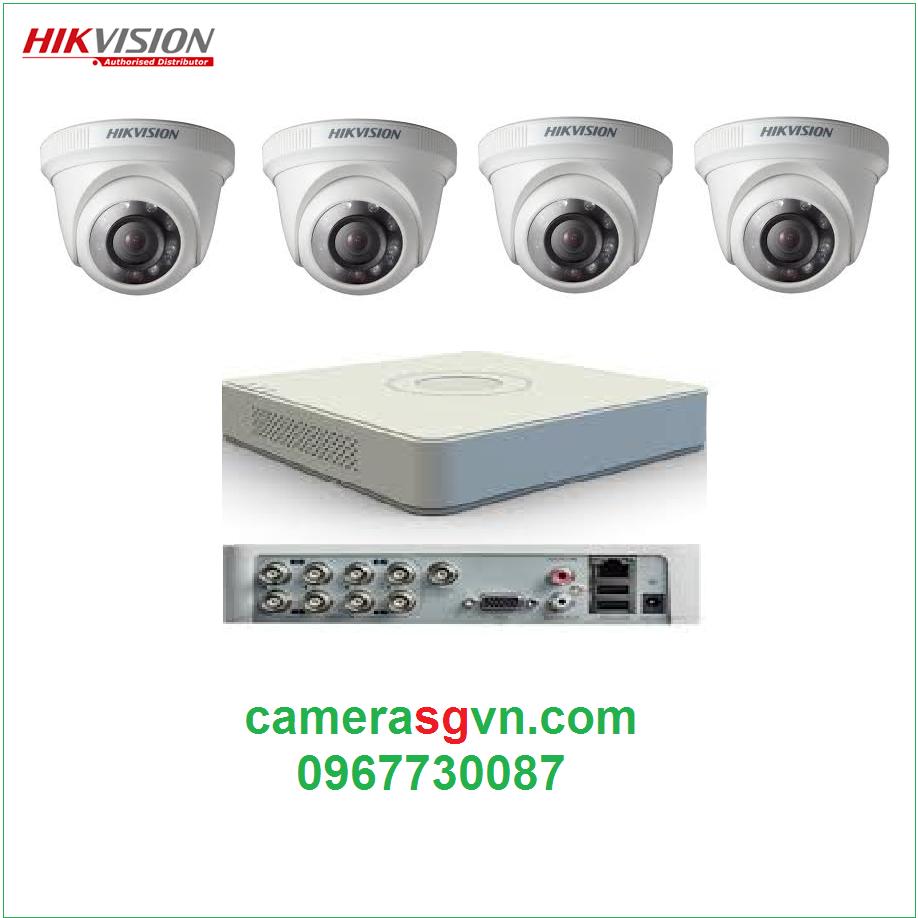 Trọn bộ 4 camera TVI HIKVISION DS-2CE56C0T-IRP
