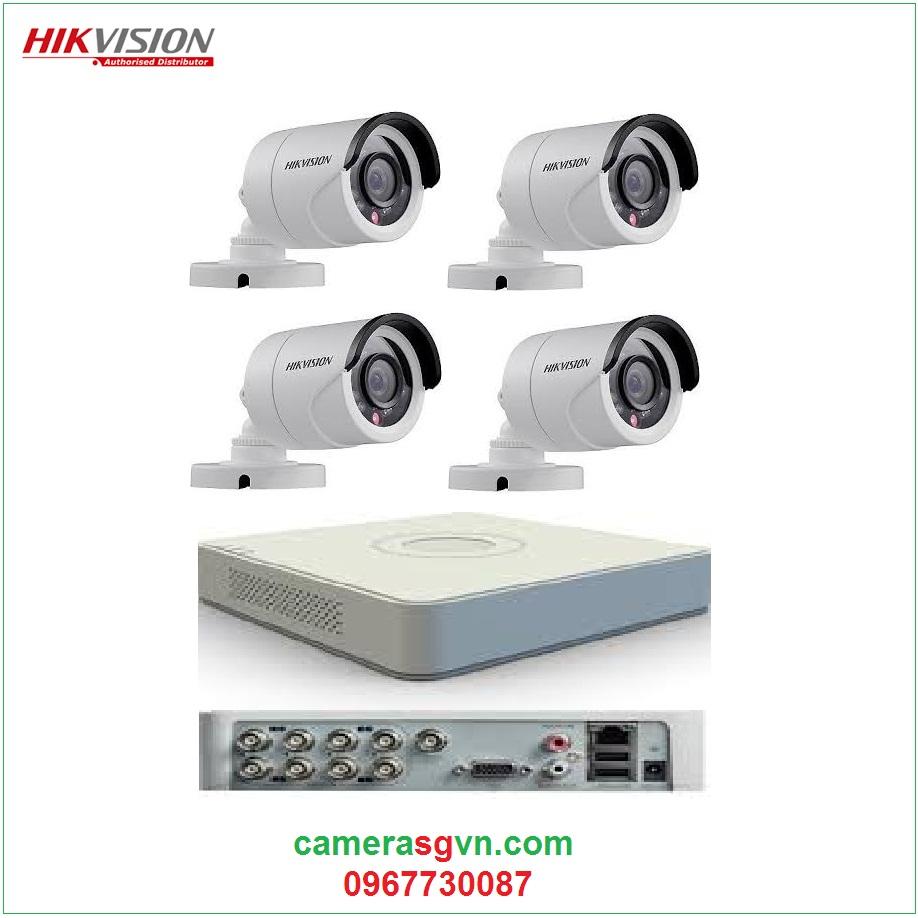 Trọn bộ 4 camera TVI HIKVISION DS-2CE16C0T-IRP