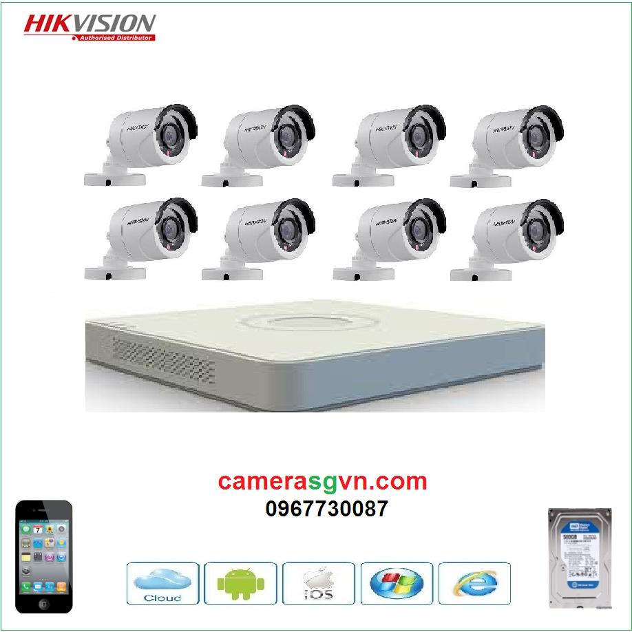Trọn bộ 8 camera HIKVISION DS-2CE16C0T-IRP