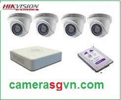 Trọn bộ 4 camera IP HIKVISION DS-2CD1321-I